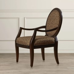 Leopard Print Accent Chair King Sale House Of Hampton Distressed Fabric Arm