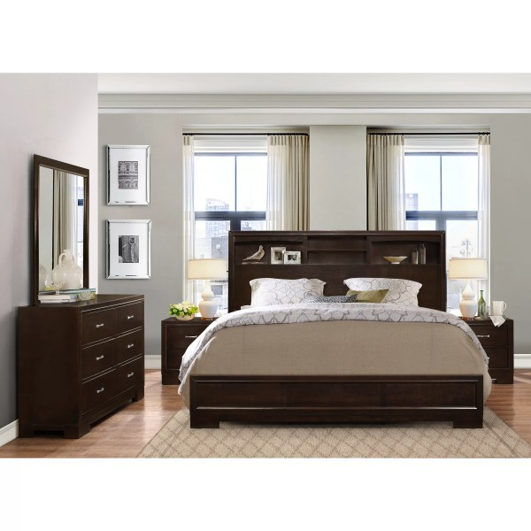 Roundhill Furniture Montana Panel 5 Piece Bedroom Set
