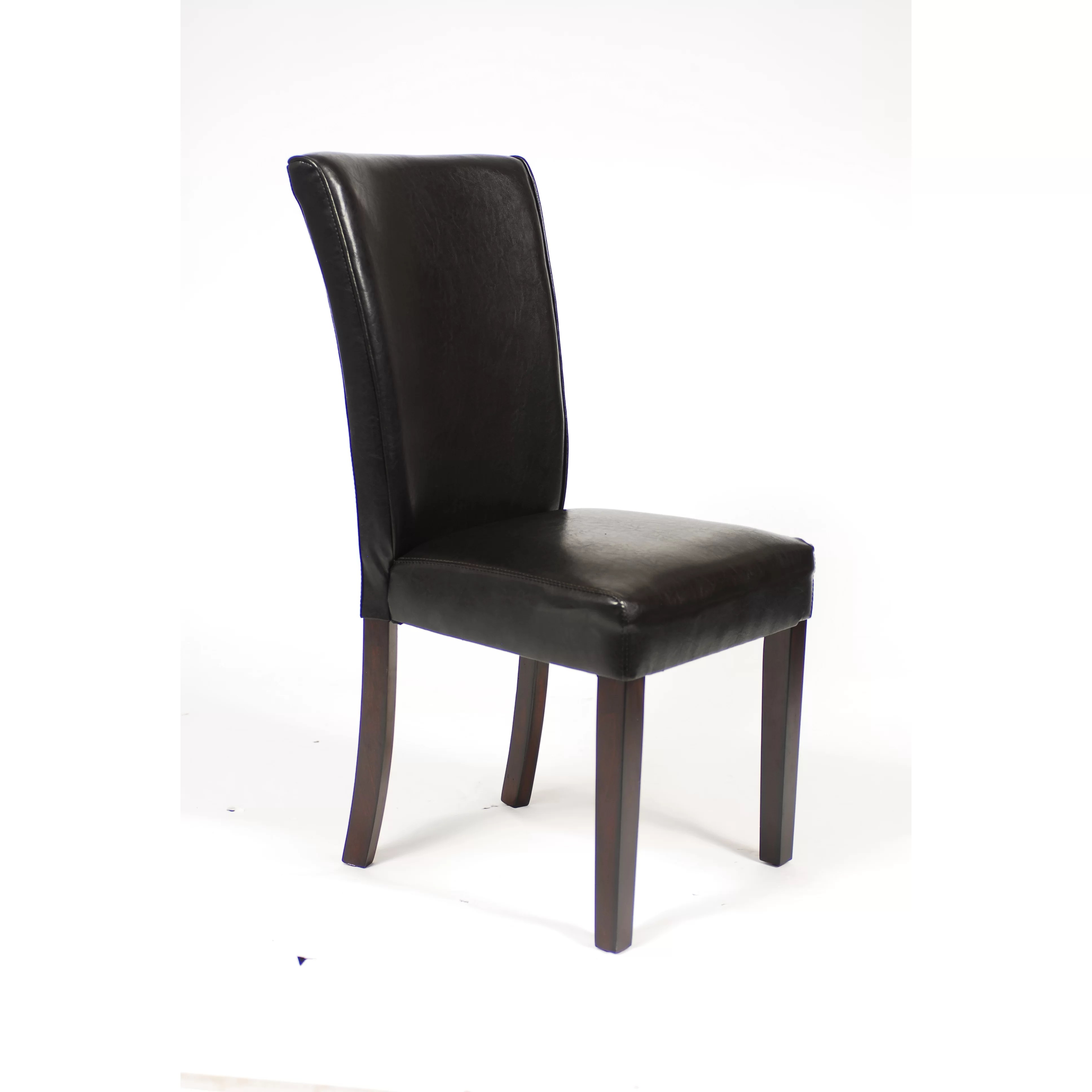 black parsons chair ebay uk ikea covers roundhill furniture leatherette parson