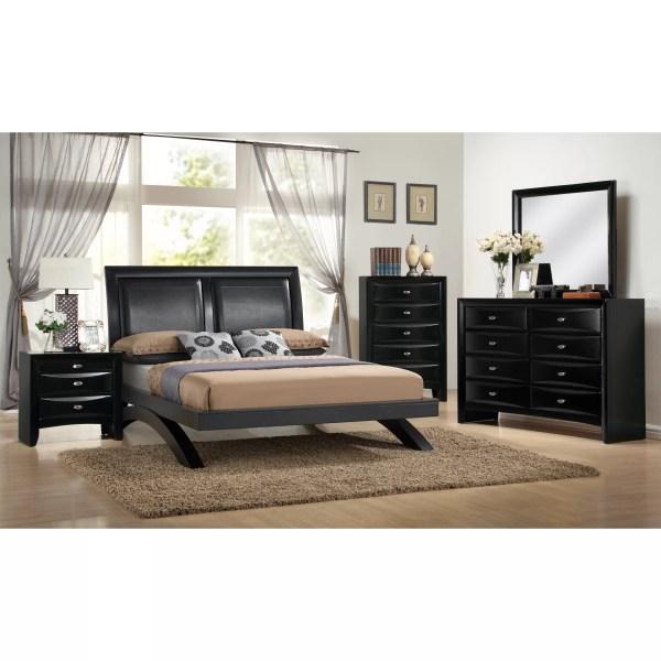 Roundhill Furniture Blemerey 5 Piece Platform Bedroom Set