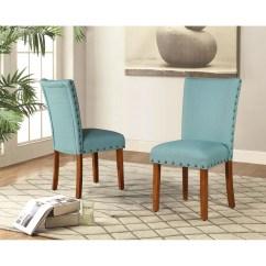 Teal Parsons Chair Modern Rocking Singapore Roundhill Furniture Elliya Nailheads