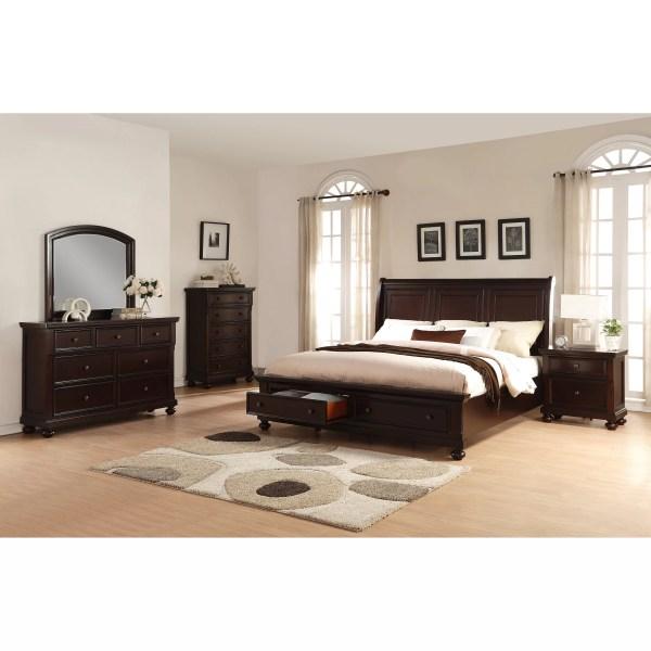 Roundhill Furniture Brishland Platform 5 Piece Bedroom Set