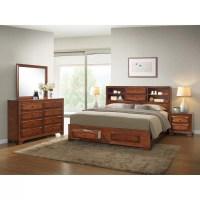 Roundhill Furniture Asger Queen Platform Customizable ...