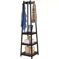 Roundhill Furniture Vassen 3-Tier Storage Shelve Coat Rack ...
