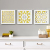 Bungalow Rose Tuscan Tiles 3 Piece Framed Graphic Art Set ...