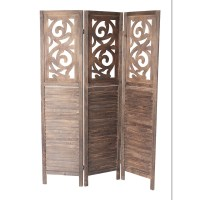 """Bungalow Rose Mariam 70"""" x 50"""" 3 Panel Room Divider ..."""