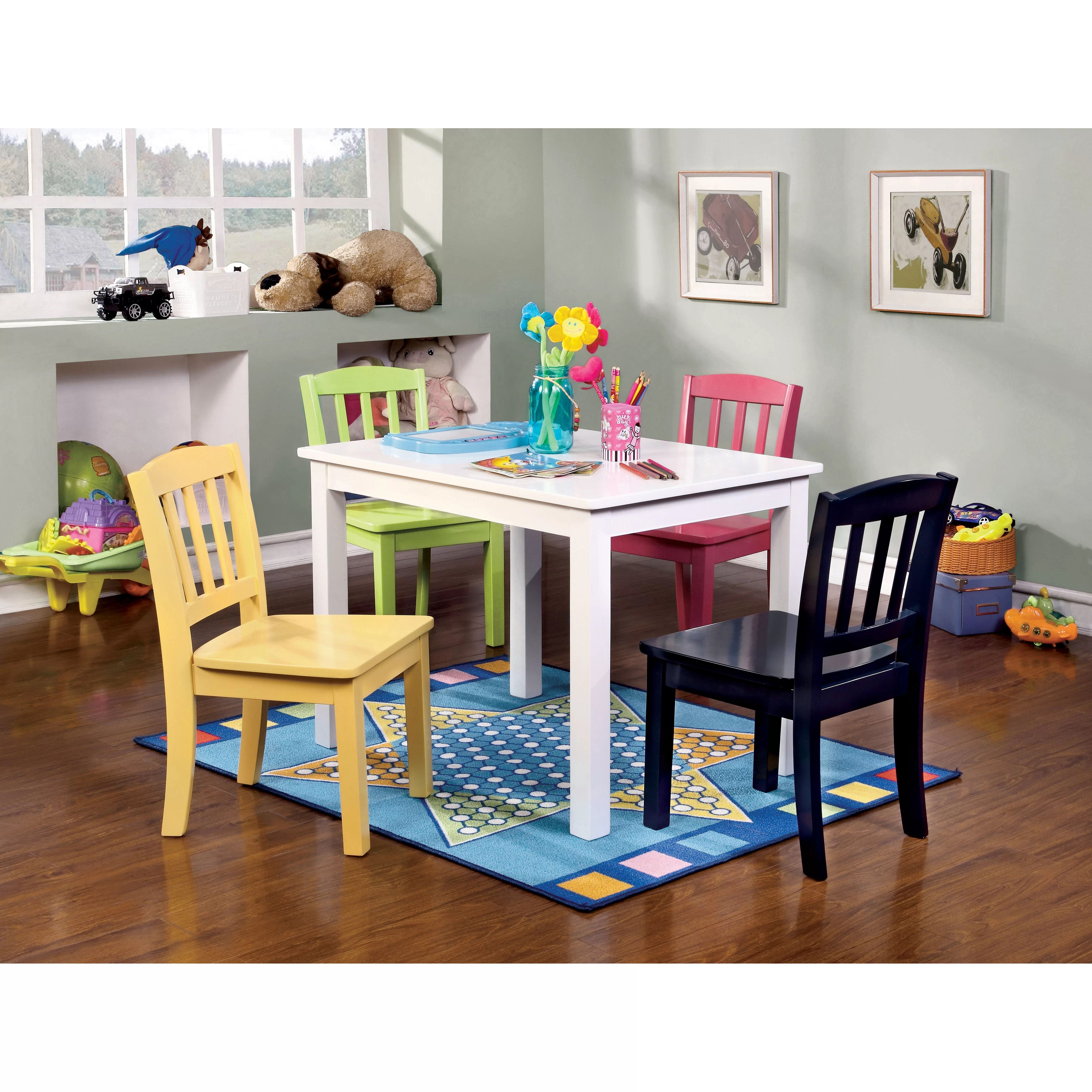 safety 1st 5 piece childrens table and chair set chiavari chairs rental viv 43 rae katie rectangle