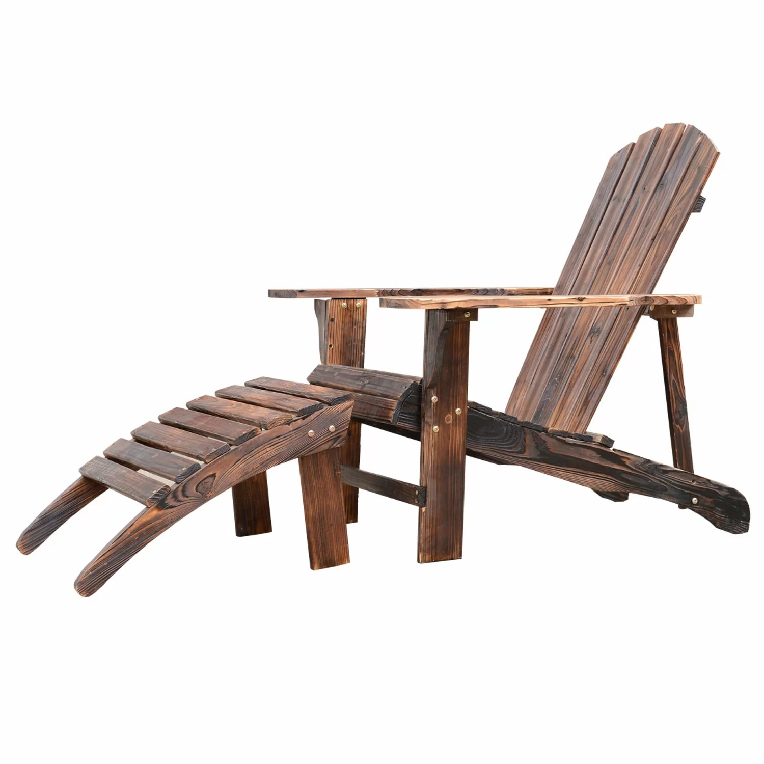 adirondack chair with ottoman plans swing gazebo outsunny and reviews wayfair