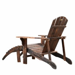 Adirondack Chair With Ottoman Plans Electric Pictures Outsunny And Reviews Wayfair