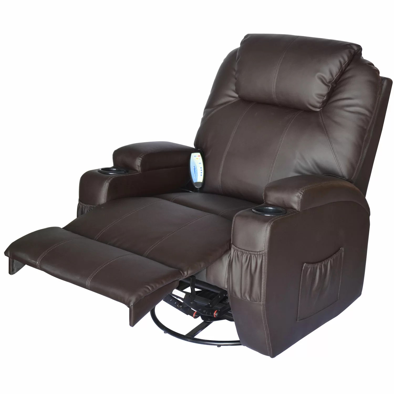Top Rated Massage Chairs Outsunny Homcom Deluxe Heated Vibrating Vinyl Leather