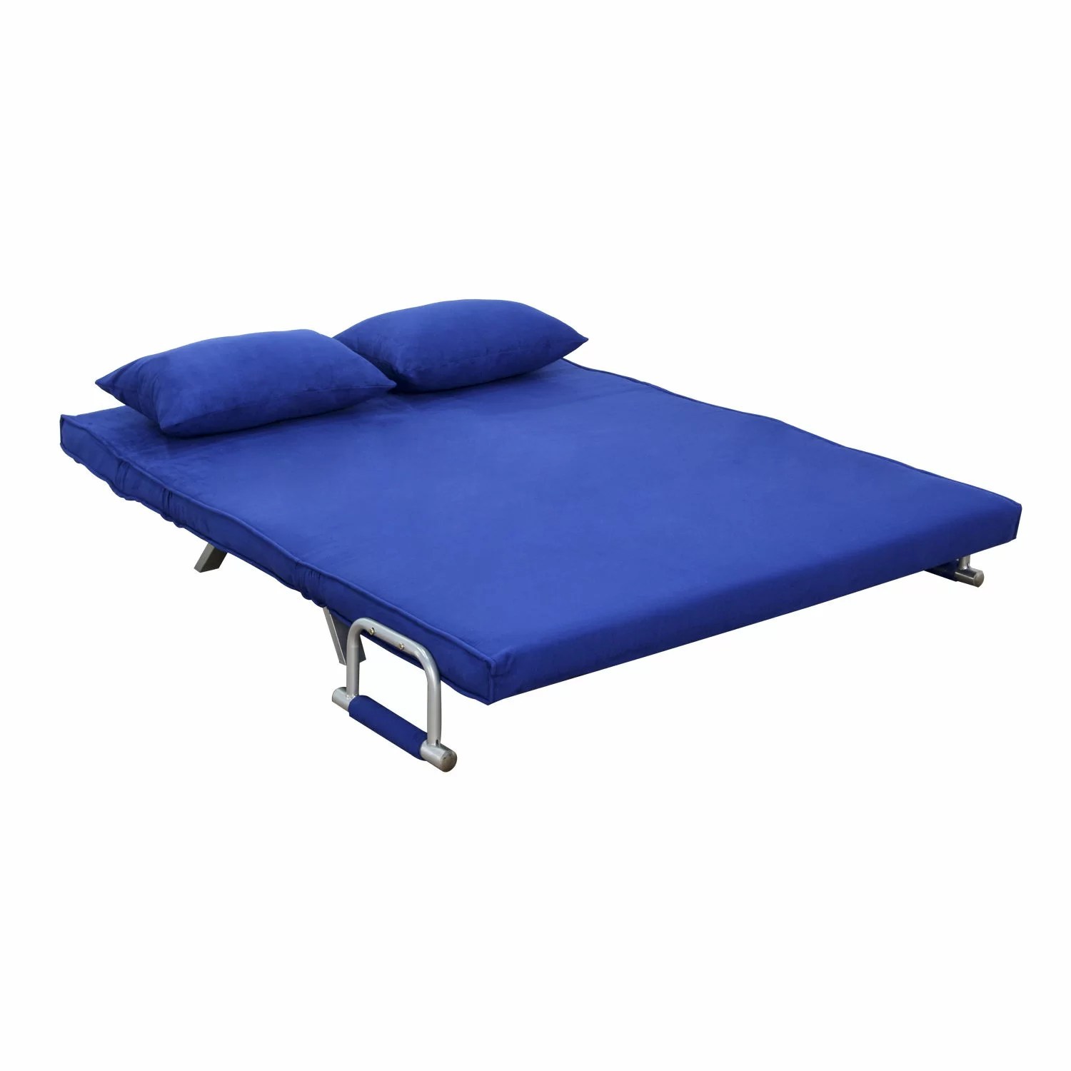 Folding Sleeping Chair Homcom Folding Futon Sleeper Sofa And Reviews Wayfair