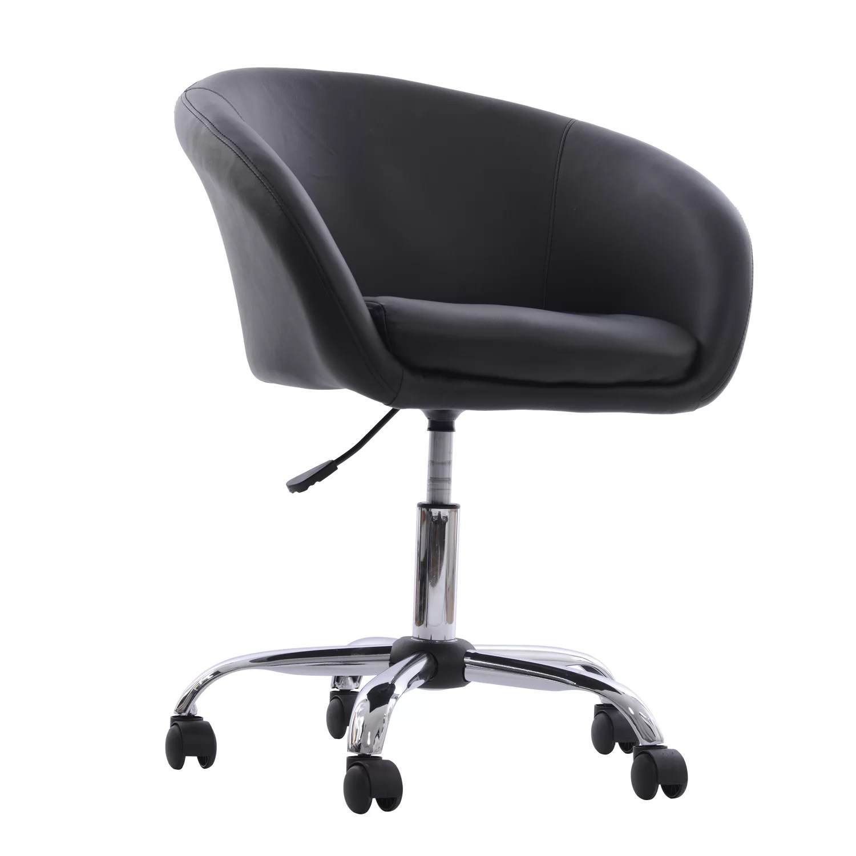 HomCom Swivel Tub Chair with Wheels  Reviews  Wayfair