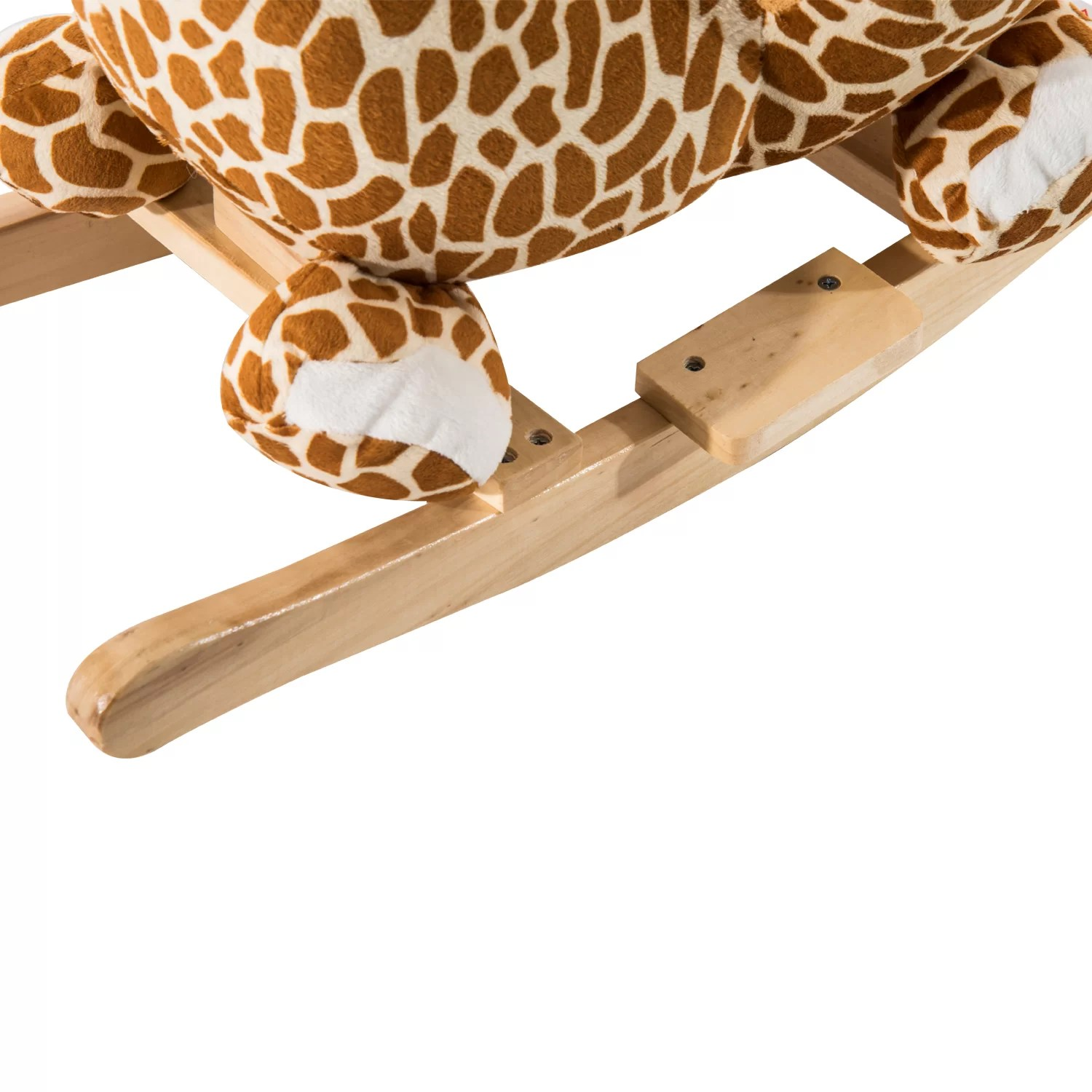 Giraffe Rocking Chair Qaba Giraffe Plush Rocking Horse Wayfair