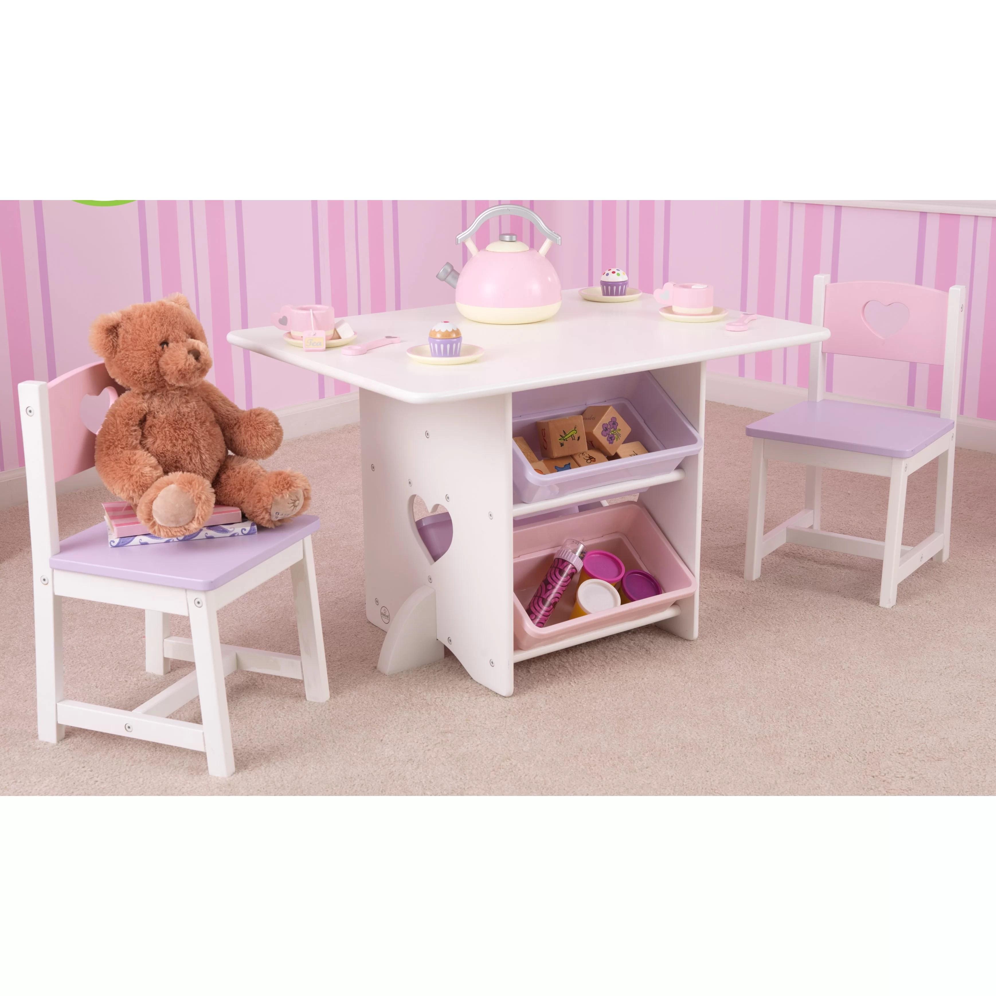 KidKraft Heart Kids 7 Piece Table  Chair Set  Reviews