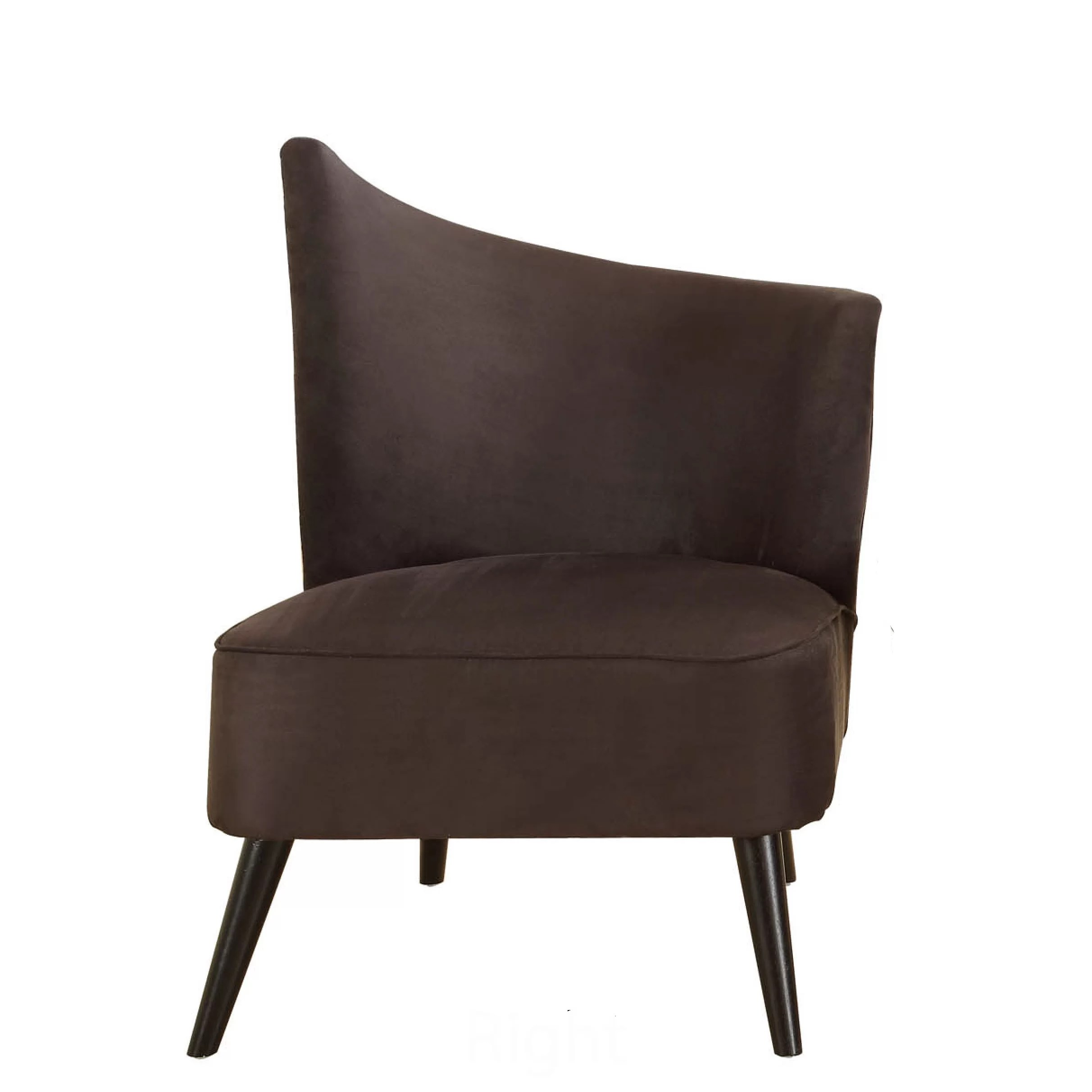 Elegant Chairs Armen Living Stage Door Elegant Right Side Chair And Reviews