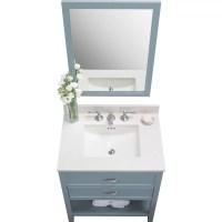 Ronbow Rectangle Ceramic Undermount Bathroom Sink with ...