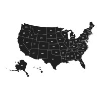 Dana Decals Map of the United States Small Wall Decal ...