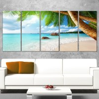 DesignArt Praslin Island Seychelles Beach 5 Piece Wall Art ...