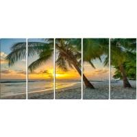 DesignArt Beach in Caribbean Island of Barbados 5 Piece ...