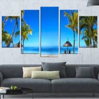 DesignArt 'Mauritius Beach with Chairs' 5 Piece Wall Art ...