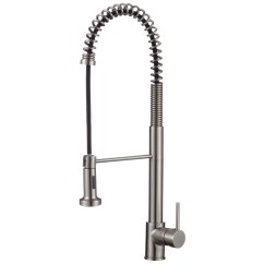 Pull Down Kitchen Faucet Reviews Cabinets Storage Upscale Designs By Ema Single Handle Deck Mounted
