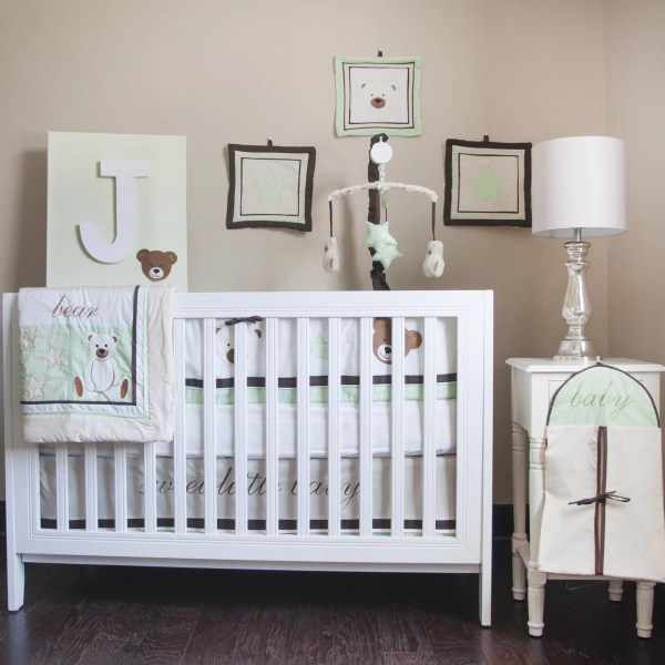 Pam Grace Creations Baby Bear 10 Piece Crib Bedding Set