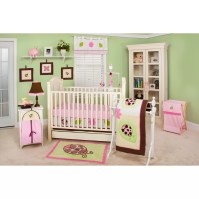 Pam Grace Creations Ladybug Lucy 10 Piece Crib Bedding Set ...