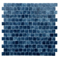 "Kellani Quartz .075"" x 0.75"" Glass Mosaic Tile in Dark"