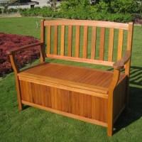 Breakwater Bay Sabbattus Outdoor Wood Storage Bench ...