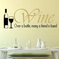DecaltheWalls Wine, Over a Bottle Wall Decal | Wayfair.ca