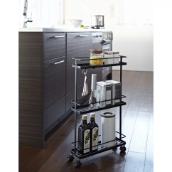 Kitchen Storage Cart Faucet With Handspray Yamazaki Usa Tower Rolling And Reviews