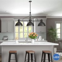 VONNLighting Dorado 3 Light Kitchen Island Pendant ...