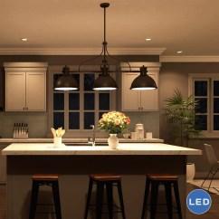 3 Light Kitchen Island Pendant Black Distressed Cabinets Vonnlighting Dorado