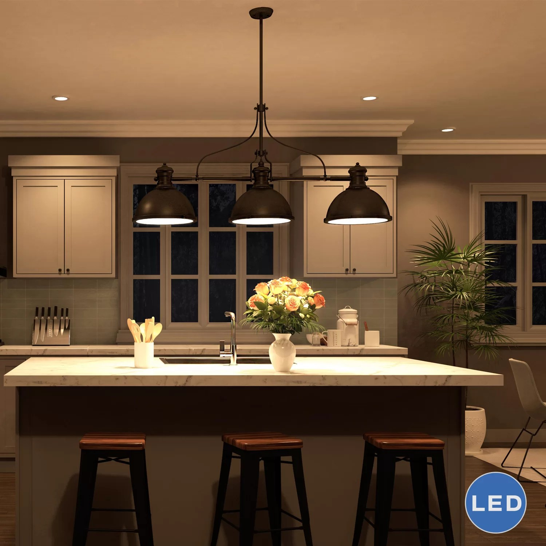 3 light kitchen island pendant electric grinder vonnlighting dorado