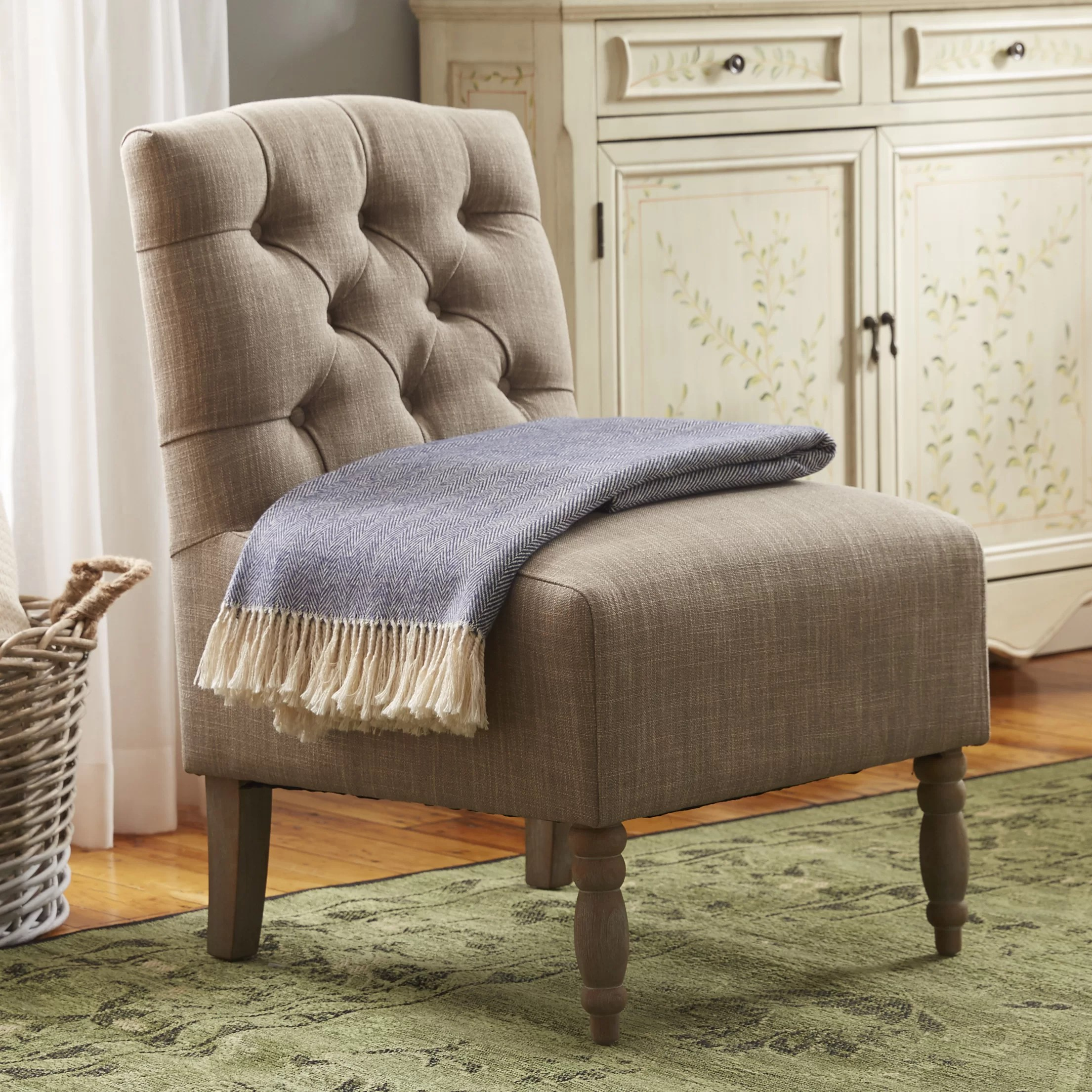 Tufted Slipper Chair Madison Park Madison Park Lola Tufted Slipper Chair