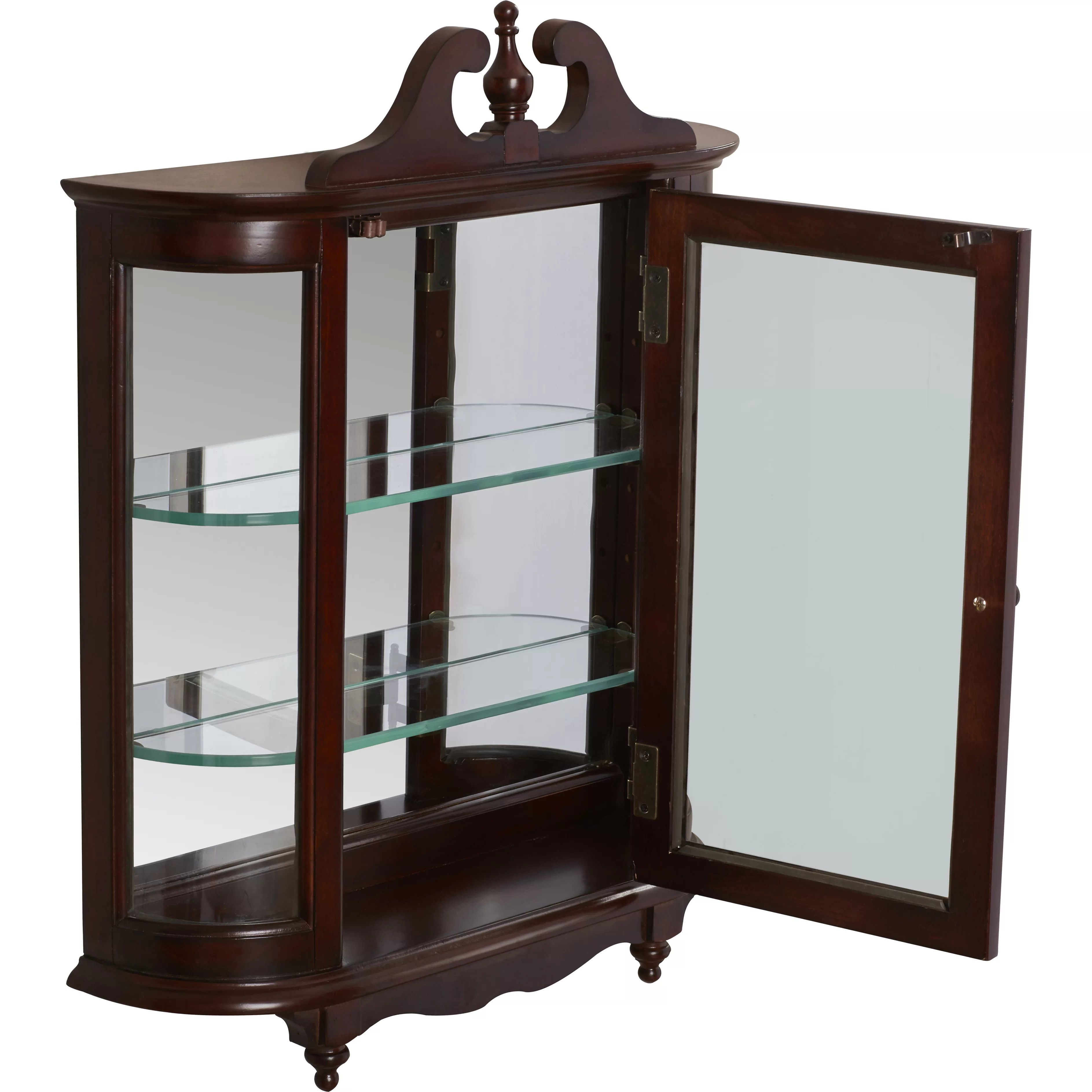 Rosalind Wheeler Cheshire WallMounted Curio Cabinet