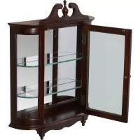 [wall mounted curio cabinet]