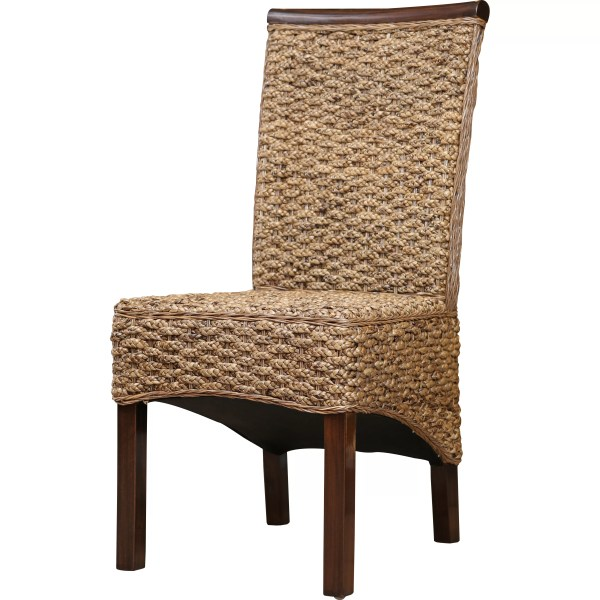 Wicker Rattan Parson Dining Chairs