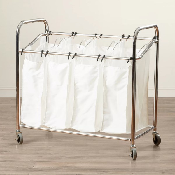 Symple Stuff 4 Section Laundry Sorter &