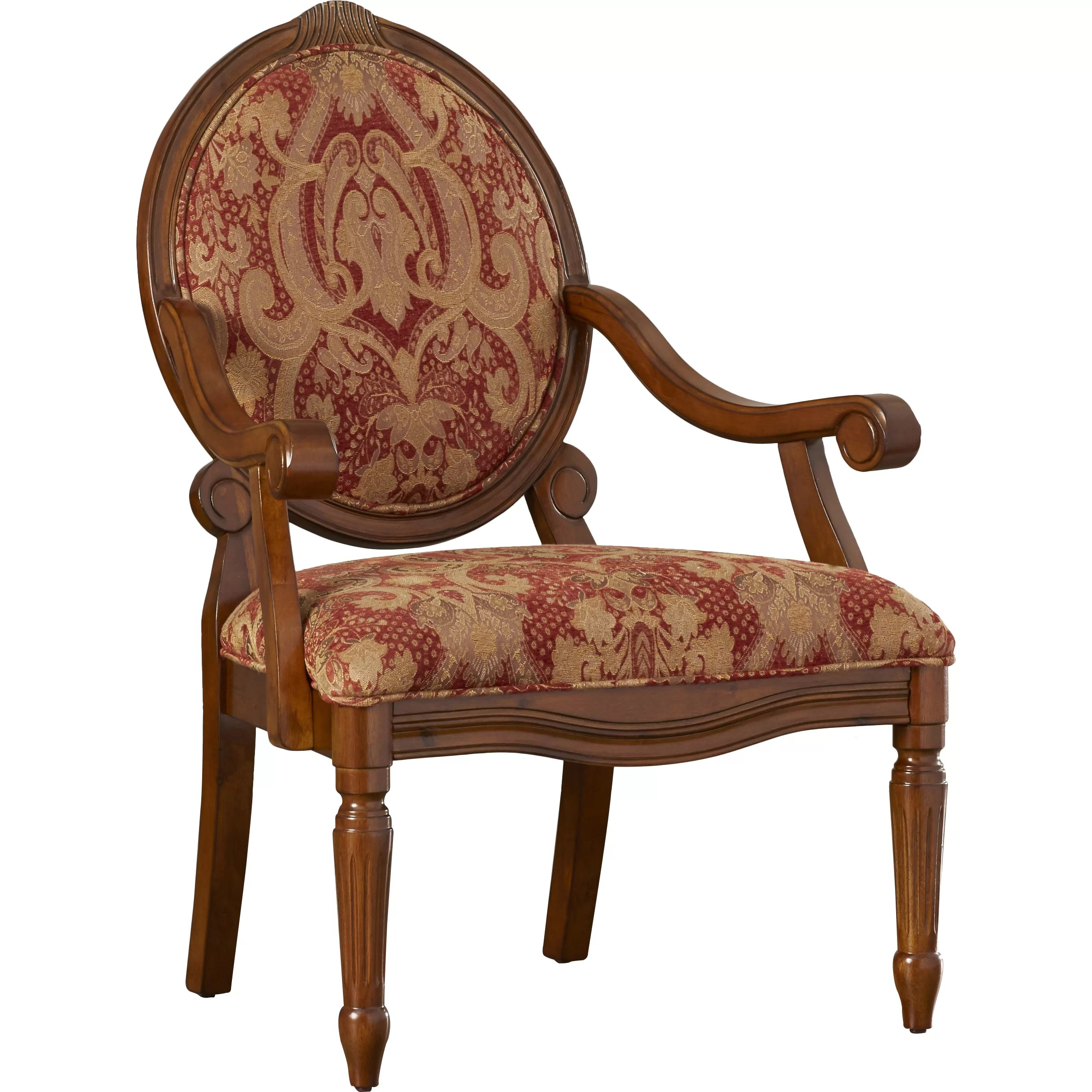 Oval Back Chair Astoria Grand Carncastle Oval Back Arm Chair In Royal