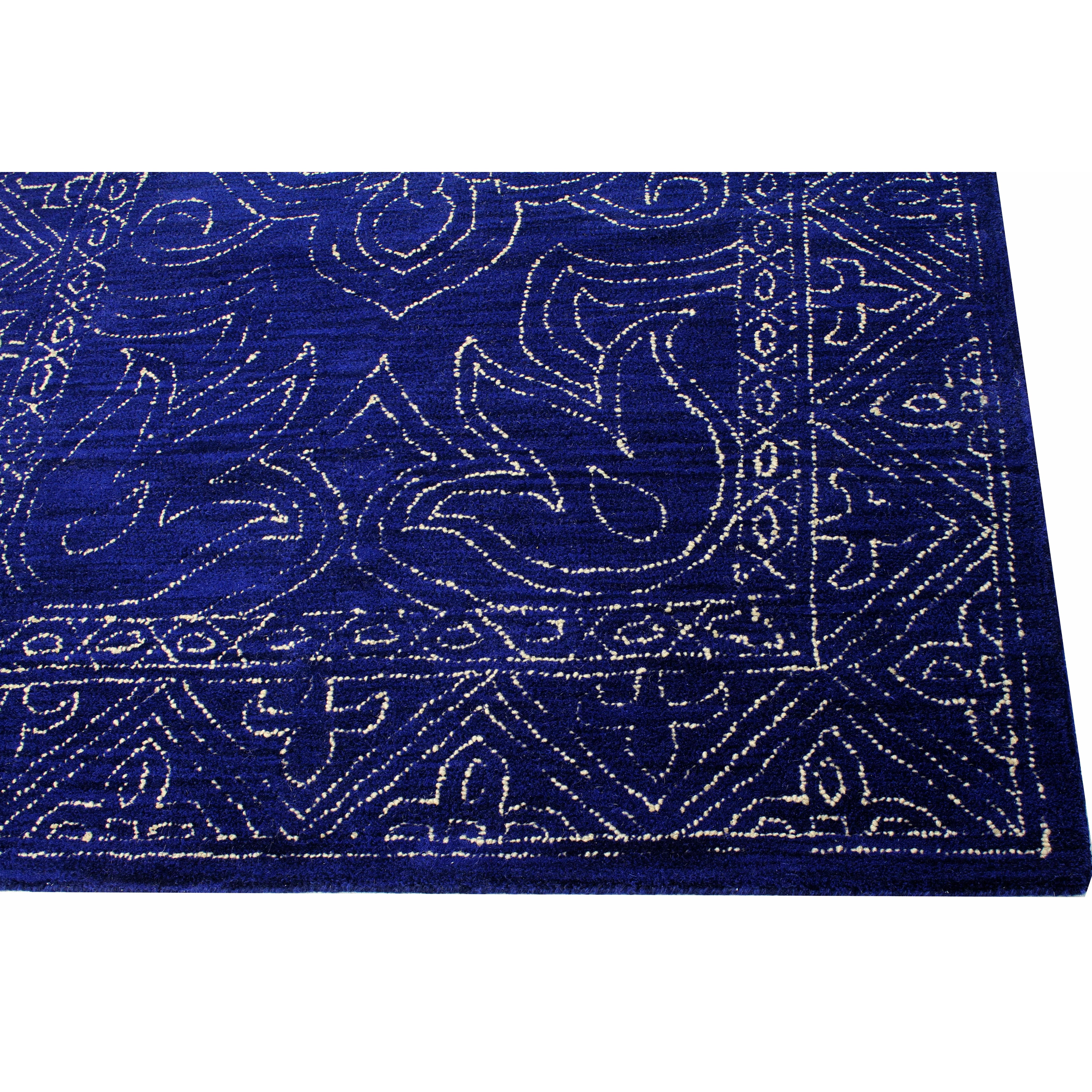 World Menagerie Frankfurt HandTufted Navy Area Rug