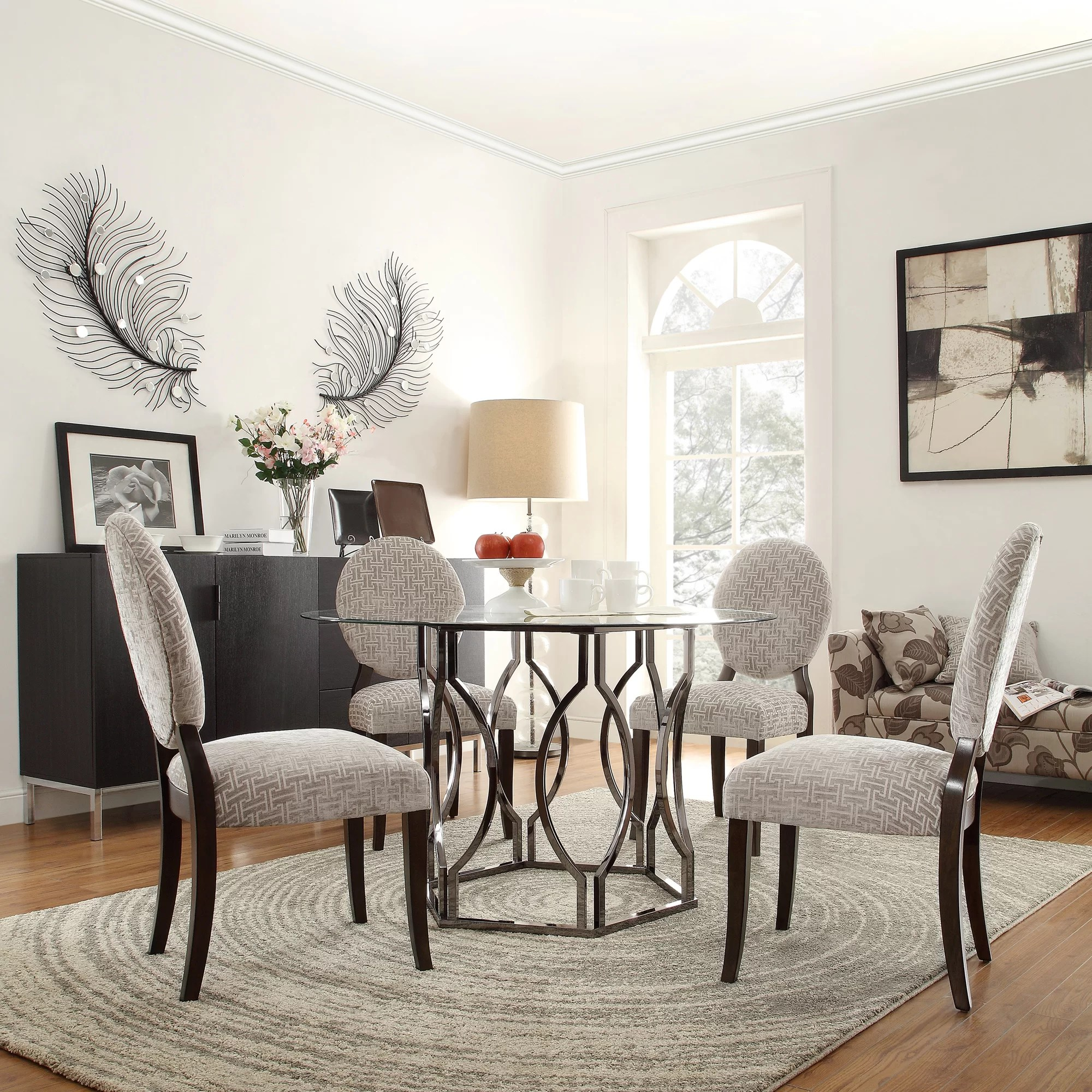 Mercer41 Viggo Round Glass Dining Table  Reviews  Wayfair