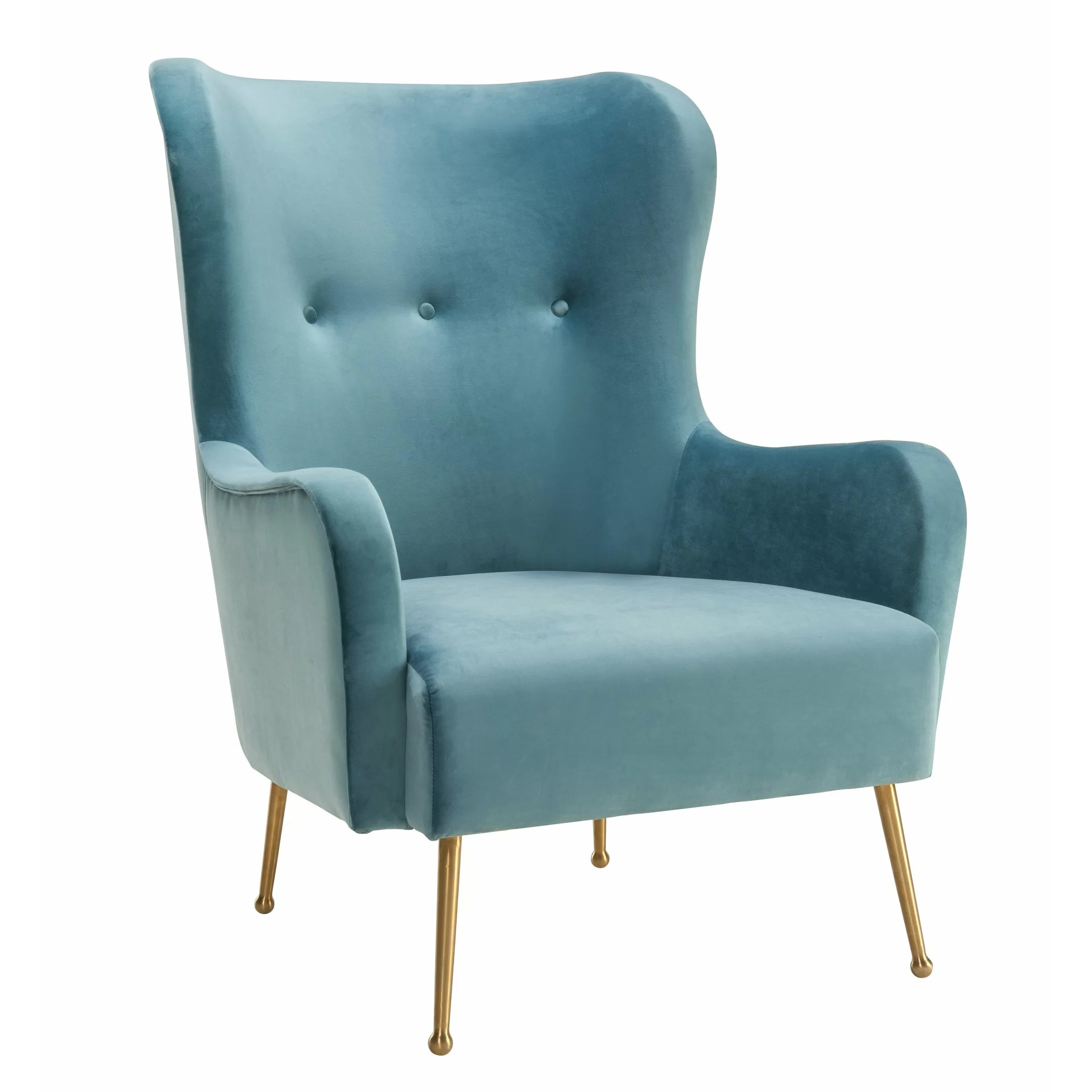 Wayfair Wingback Chair Mercer41 Tanzanite Velvet Wingback Chair Wayfair
