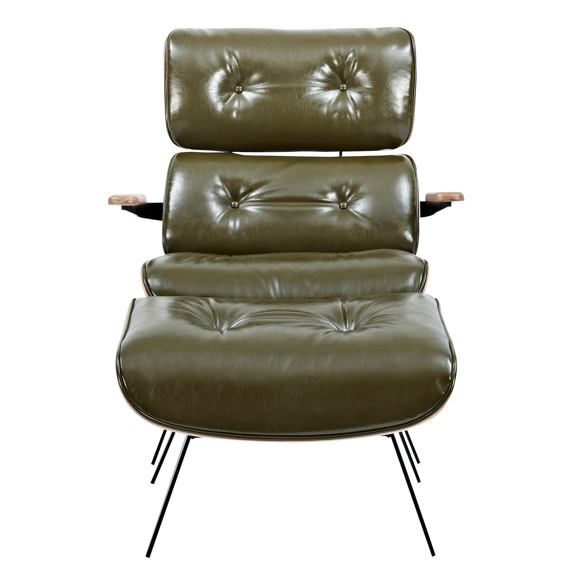 Lounge Chair With Ottoman Nyekoncept Eama Lounge Chair With Ottoman Wayfair Ca