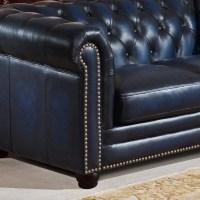 Amax Nebraska Chesterfield Genuine Leather Sofa, Loveseat ...