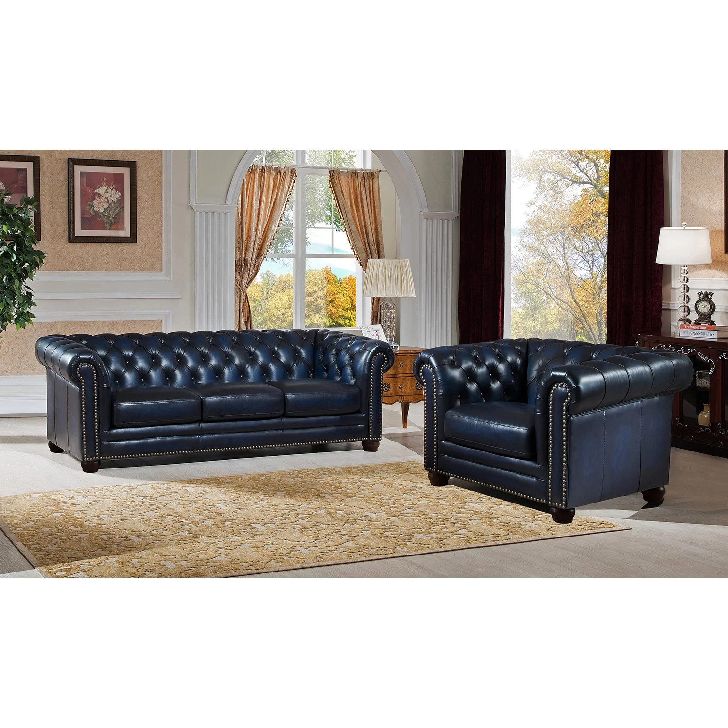 genuine leather sofa sets sectional sofas for 300 amax nebraska chesterfield and chair
