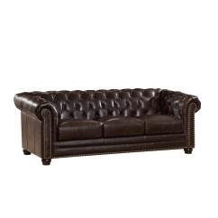 Kensington Leather Chair Serta Office Review Amax Top Grain Chesterfield Sofa Wayfair