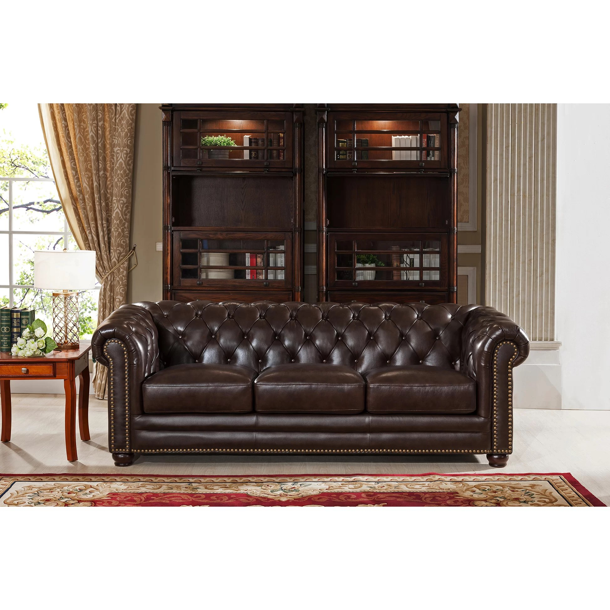kensington leather chair la z boy office amax top grain chesterfield sofa and