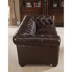 Pee Kensington Leather Sofa Cama Orleans Tugo Amax Top Grain Chesterfield