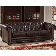 Kensington Leather Chair Design Studio Amax Top Grain Chesterfield Sofa Wayfair